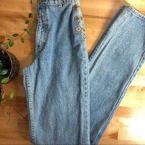 vintage 90s mom denim jeans light wash high waist